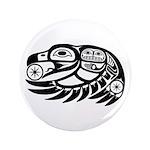 """Raven Native American Design 3.5"""" Button (100"""