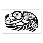 Raven Native American Design Sticker (Rectangle)