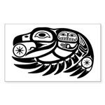 Raven Native American Design Sticker (Rectangle 10