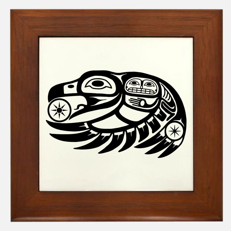 Northwest indian framed art tiles buy northwest indian for Native american tile designs