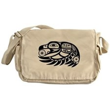 Raven Native American Design Messenger Bag