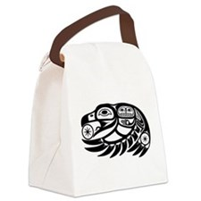 Raven Native American Design Canvas Lunch Bag