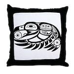 Raven Native American Design Throw Pillow