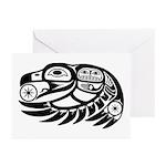 Raven Native American Design Greeting Cards (Pk of