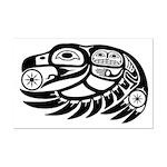 Raven Native American Design Mini Poster Print
