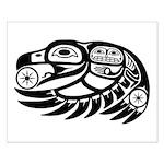 Raven Native American Design Small Poster