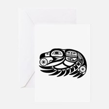 Raven Native American Design Greeting Card