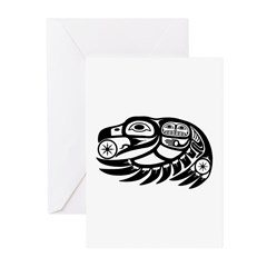 Raven Native American Design Greeting Cards (Pk of
