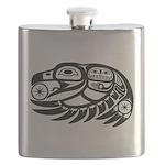 Raven Native American Design Flask