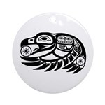 Raven Native American Design Ornament (Round)