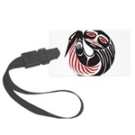Tribal Tattoo Large Luggage Tag