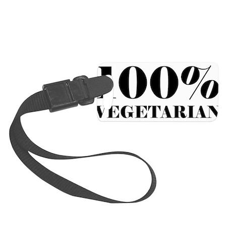 100% Vegetarian Small Luggage Tag