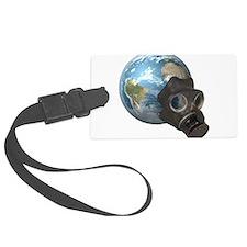 Gas Mask Earth Luggage Tag
