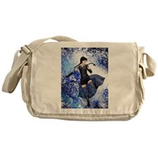 Blue Girl Messenger Bag