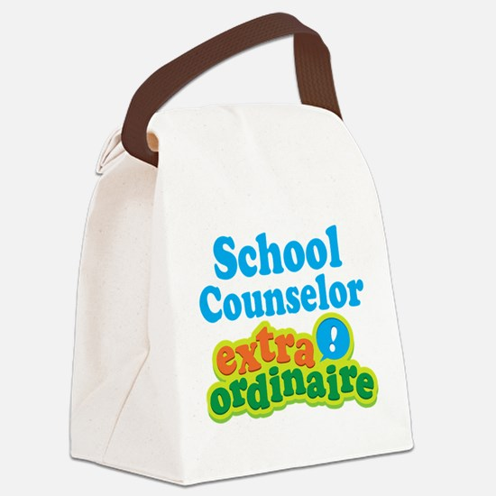 School Counselor Extraordinaire Canvas Lunch Bag