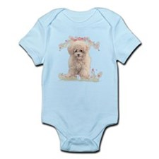 Poodle Flowers Infant Bodysuit
