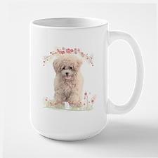 Poodle Flowers Mug