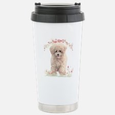 Poodle Flowers Travel Mug