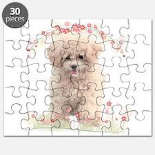 Poodle Flowers Puzzle