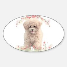 Poodle Flowers Decal