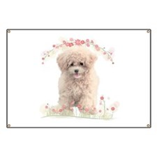 Poodle Flowers Banner