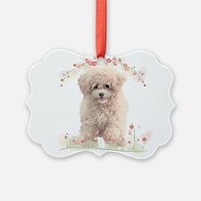 Poodle Flowers Ornament