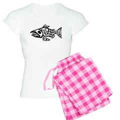 Salmon Native American Design Pajamas