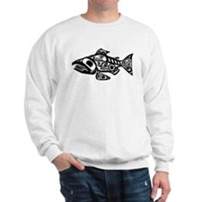 Salmon Native American Design Jumper