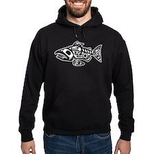 Salmon Native American Design Hoodie