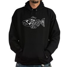 Salmon Native American Design Hoody