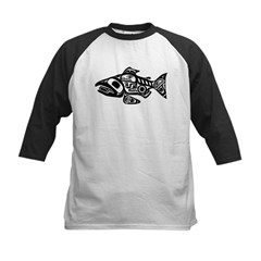 Salmon Native American Design Tee