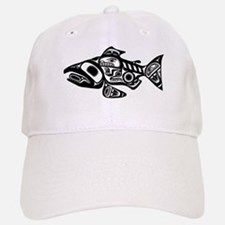 Salmon Native American Design Baseball Baseball Cap