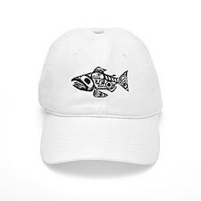 Salmon Native American Design Baseball Cap