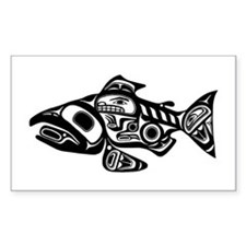 Salmon Native American Design Decal