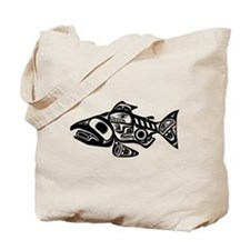 Salmon Native American Design Tote Bag