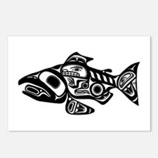 Salmon Native American Design Postcards (Package o
