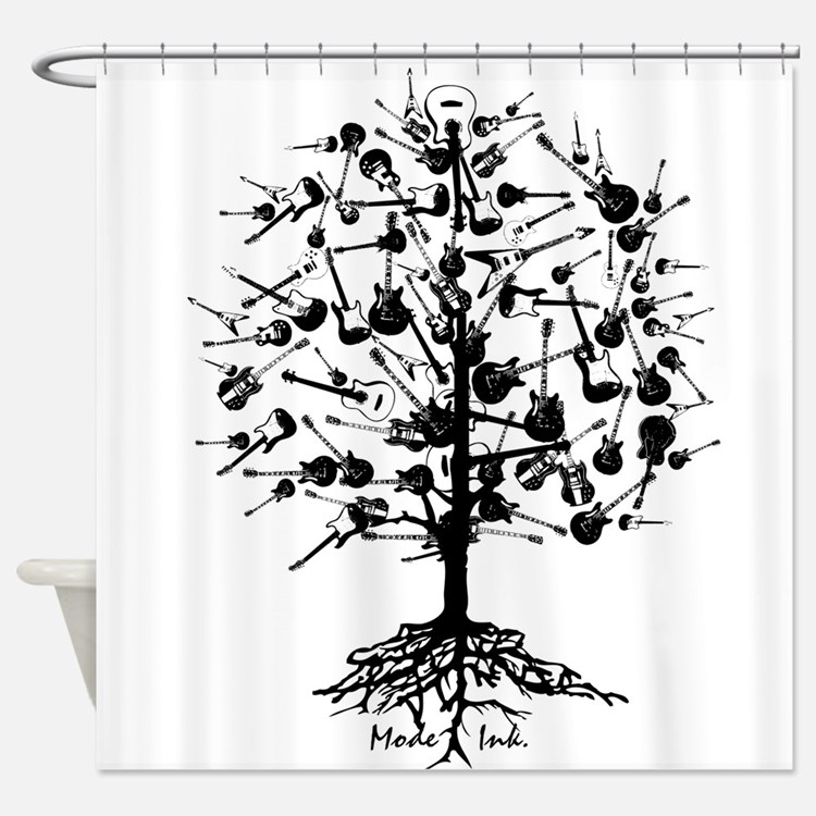 GuitarTree Shower Curtain