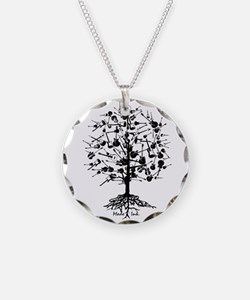 GuitarTree Necklace Circle Charm