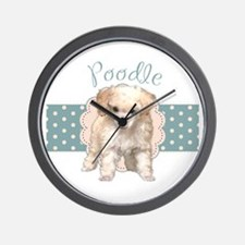 Poodle Puppy Wall Clock