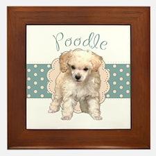 Poodle Puppy Framed Tile