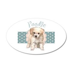 Poodle Puppy 20x12 Oval Wall Decal