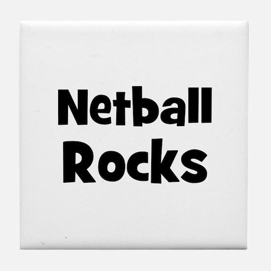NETBALL Rocks Tile Coaster
