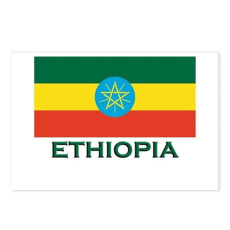 Ethiopia Flag Merchandise Postcards (Package of 8)