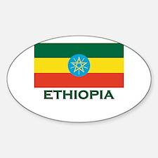 Ethiopia Flag Merchandise Oval Decal
