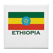 Ethiopia Flag Merchandise Tile Coaster