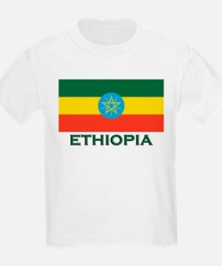 Ethiopia Flag Merchandise Kids T-Shirt