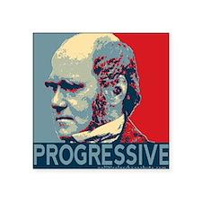 """Progressive - Darwin Square Sticker 3"""" x 3"""""""