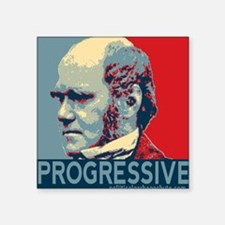 "Progressive - Darwin Square Sticker 3"" x 3"""