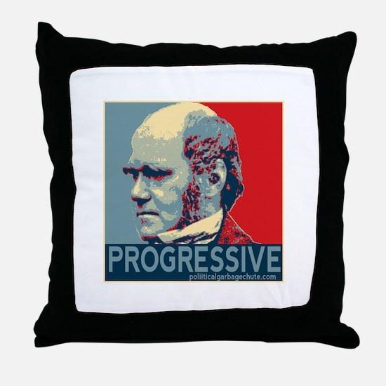 Progressive - Darwin Throw Pillow