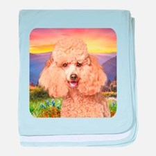 Poodle Meadow baby blanket